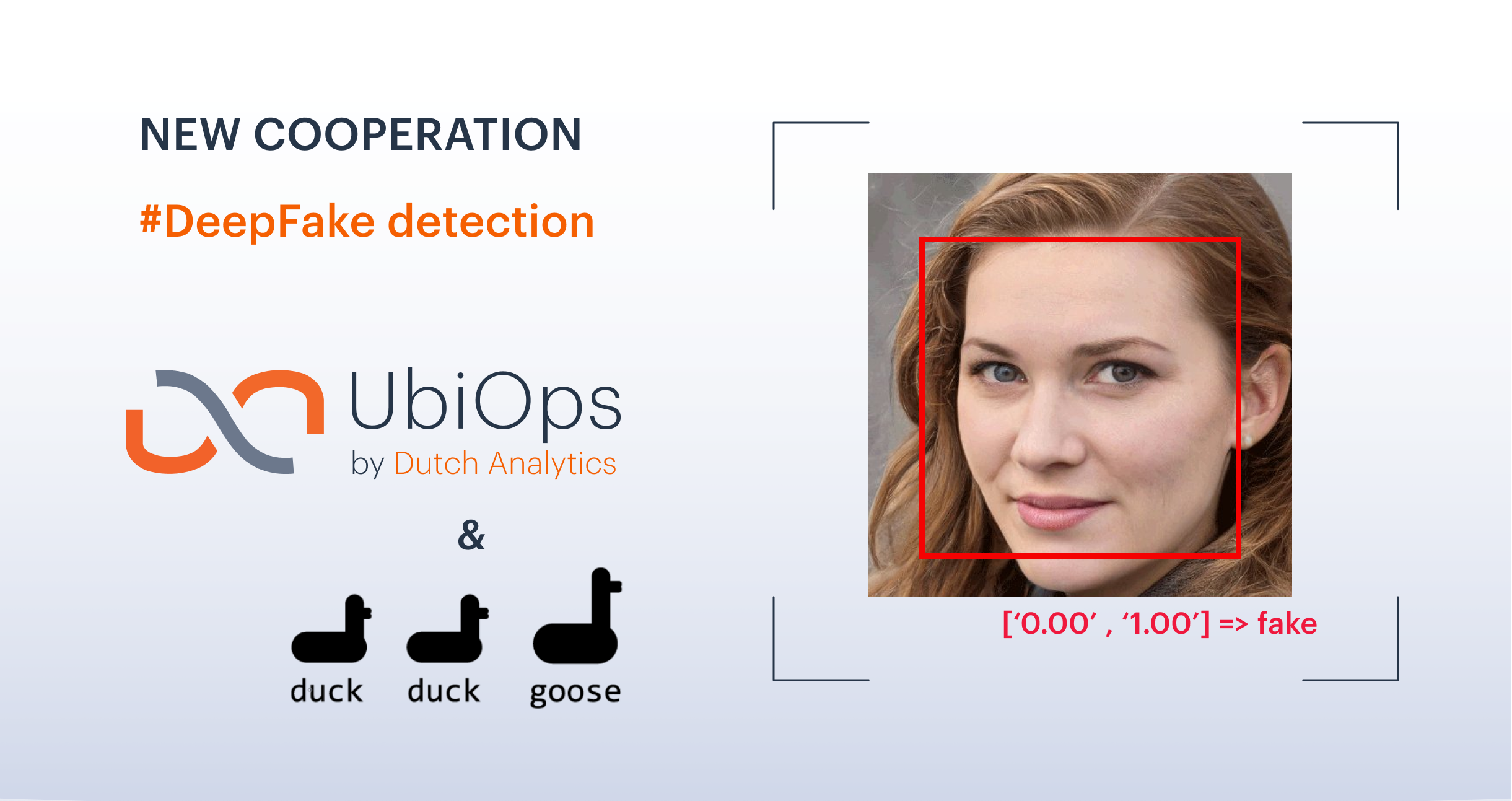 Deep fake detection with DuckDuckGoose and UbiOps