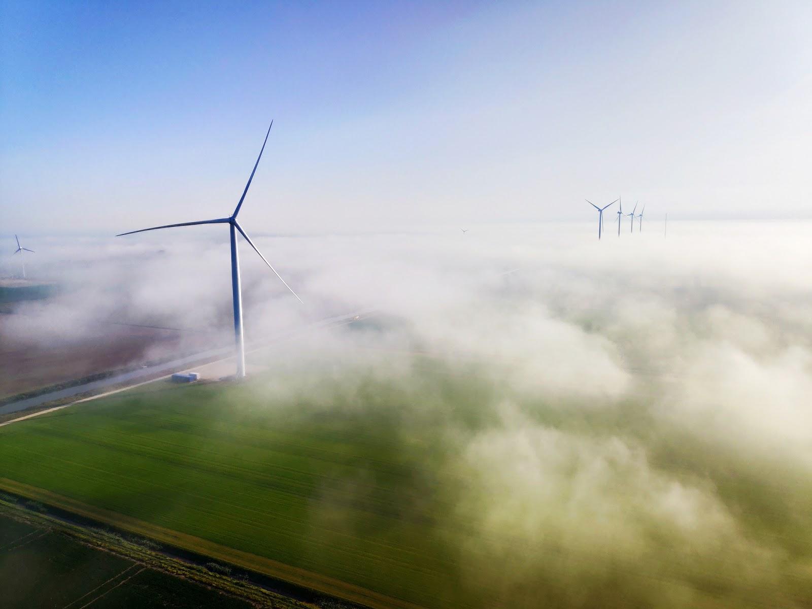 Photo over EWTW wind test site, Wieringermeer, The Netherlands. Credit: Gerben Bergmann