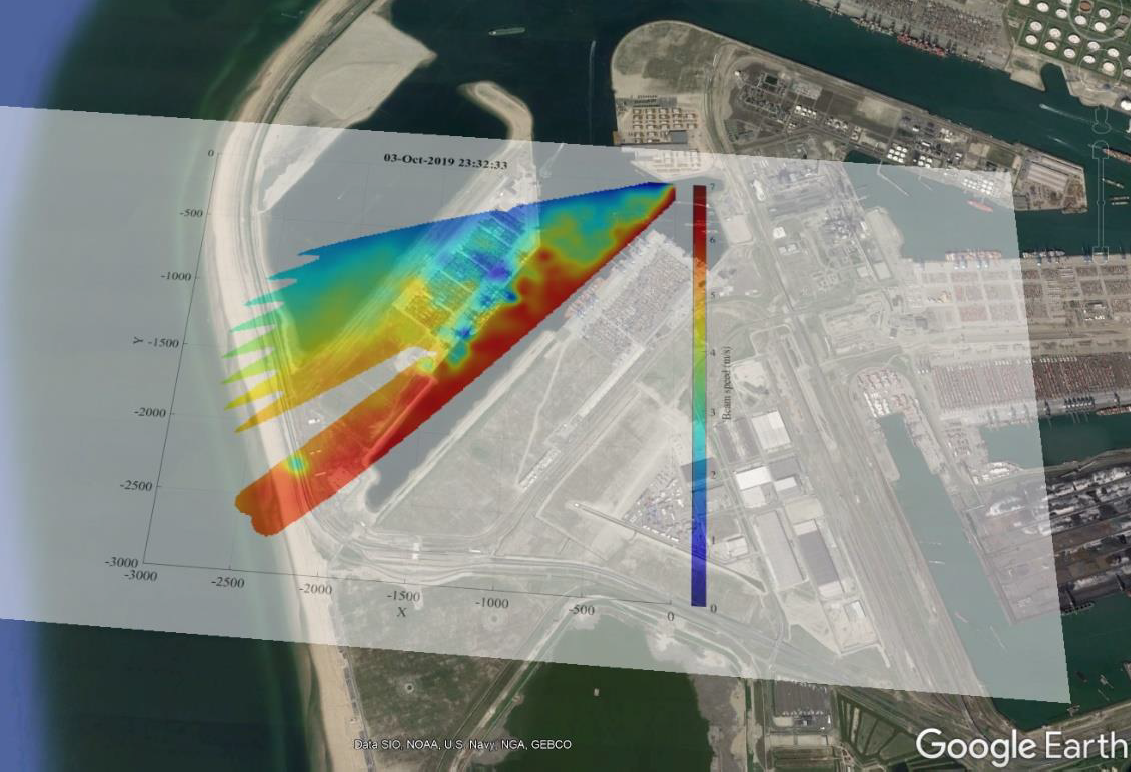 Wind field measurement at Maasvlakte II, Rotterdam, The Netherlands. Read the report here.