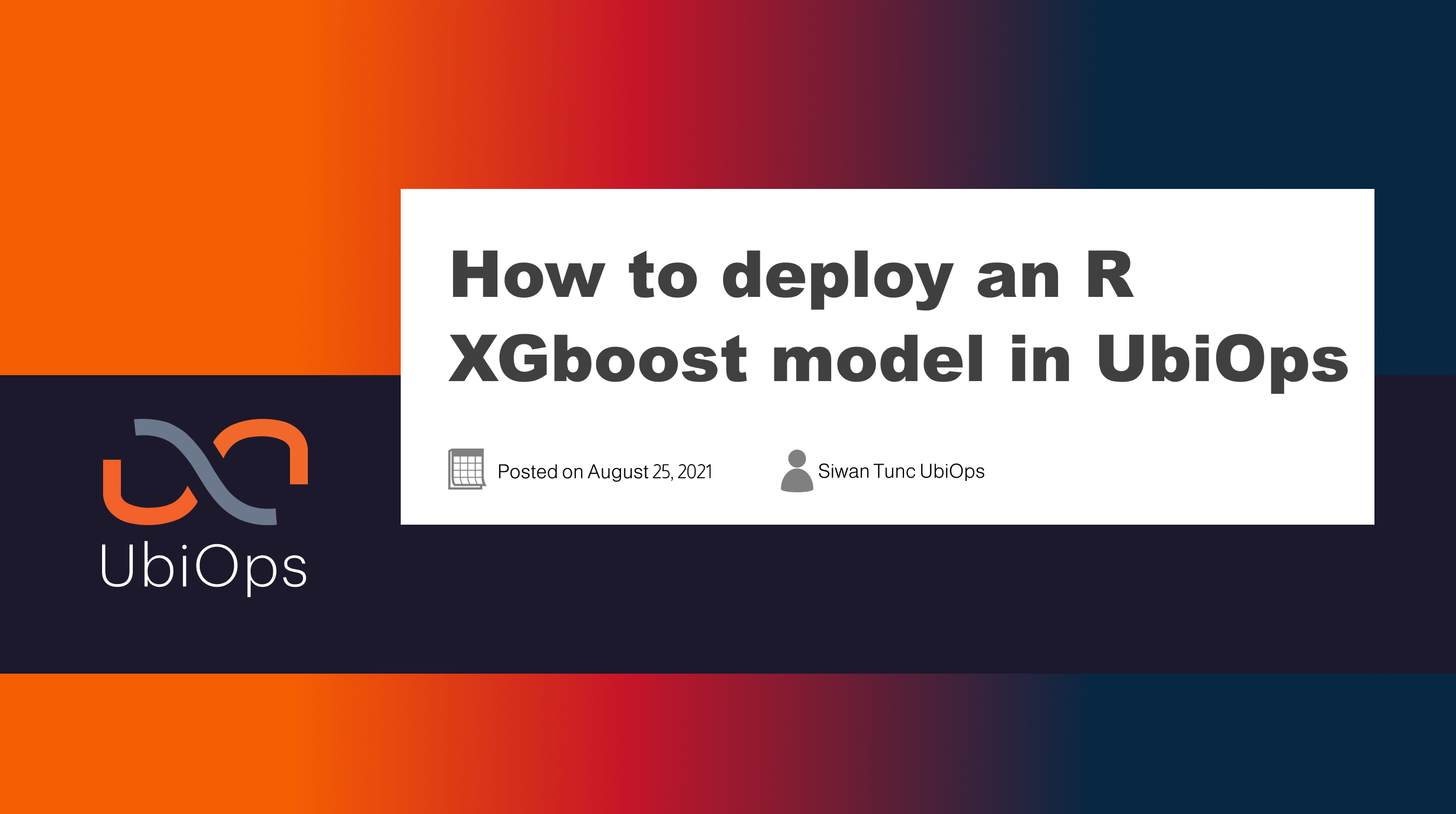 How to deploy an R XGboost model in UbiOps